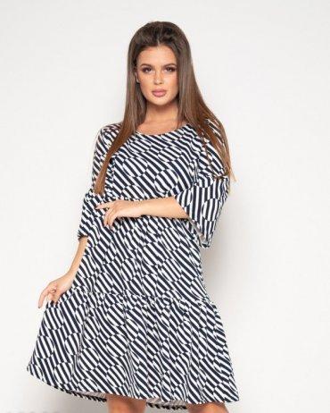 ISSA PLUS: Платья 10382_черный/белый - главное фото