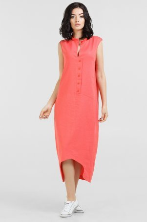V&V. Платье 2539-2.81 коралловое. Артикул: 2539-2.81