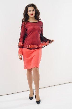 New Style. Комплект (платье и блуза). Артикул: 1330_коралл