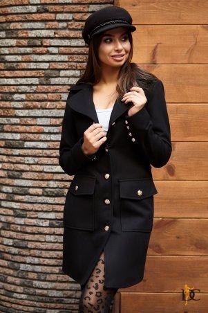Domenica. Кашемировое пальто с золотистыми пуговицами. Артикул: Р 2441
