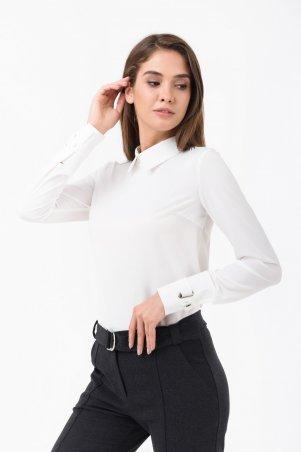 RicaMare. Базовая блуза из костюмной ткани. Артикул: RM1861-1-18DB