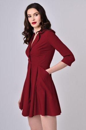 """LiPar. Платье с глубоким декольте в """"лапку"""" Красное. Артикул: 3355/3 красный"""