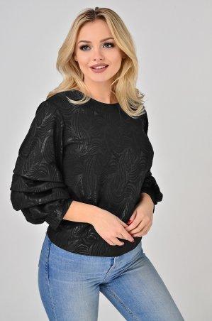 LiPar. Блуза с буфами Чёрная. Артикул: 2119/3 черный