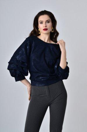 LiPar. Блуза с буфами Синяя. Артикул: 2119/3 синий