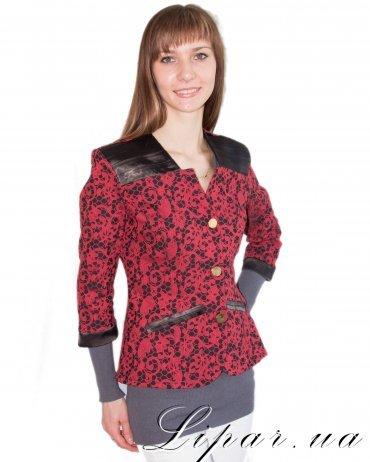 LiPar. Женский пиджак Красный Батал. Артикул: 1006 красный
