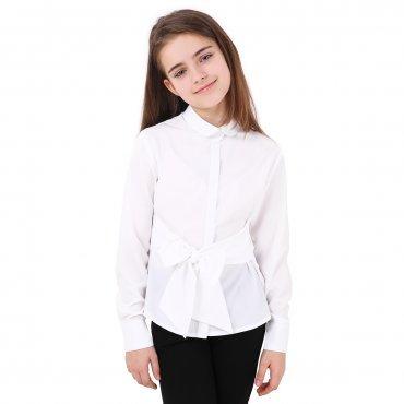Timbo. Блуза Adelina  (белый бант). Артикул: B048154