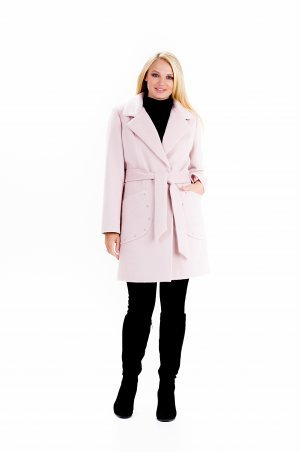 """Vicco. Пальто женское весеннее с поясом """"ALPAKA"""" (цвет розовый). Артикул: 2390"""