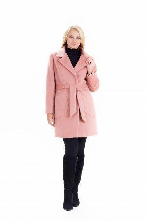 """Vicco. Пальто женское весеннее с поясом """"ALPAKA"""" (цвет терракотовый). Артикул: 2389"""