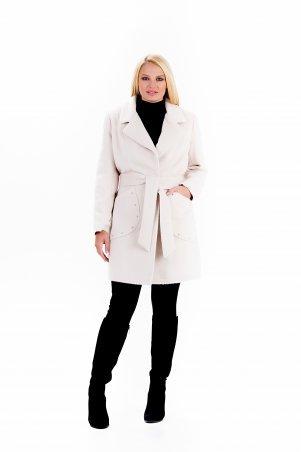 """Vicco. Пальто женское весеннее с поясом """"ALPAKA"""" (цвет бежевый). Артикул: 2388"""