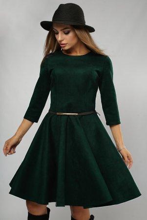 LiPar. Платье замша юбка-солнце Зелёное. Артикул: 3072 зеленый