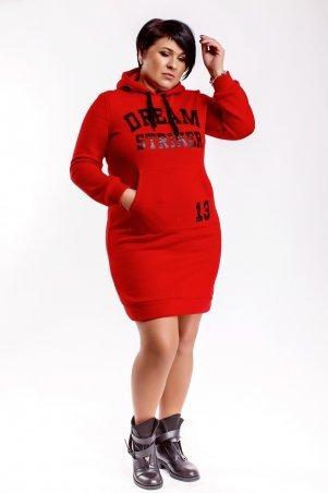 Modna Anka. Платье-худи 412663 красный. Артикул: 412663