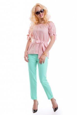 LiPar. Женские брюки из тиара Бирюза. Артикул: 904 бирюза