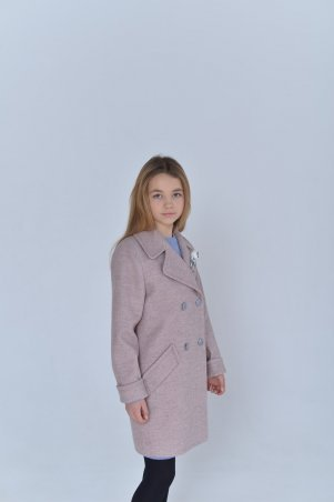 Filatova Tatiana. Пальто детское Татьяна Филатова модель 165 двубортное пудра. Артикул: 165