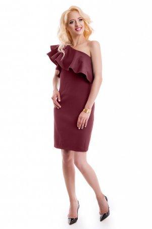 LiPar. Оригинальное мини платье Марсала. Артикул: 3057 марсала