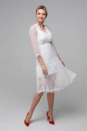 Zefir. Платье из сетки. Артикул: RONA белое
