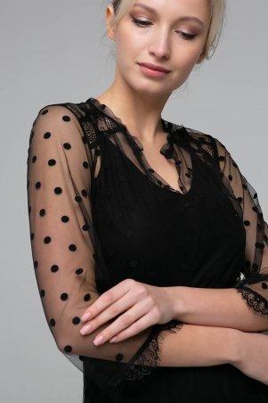 Zefir. Платье из сетки. Артикул: RONA черное