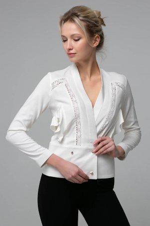 Zefir. Короткая блуза со вставками из кружева. Артикул: TERI белая