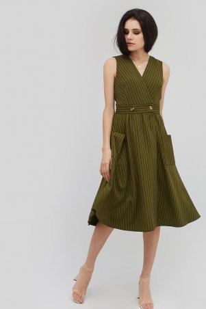 "Cardo. Платье ""PREMMI"" оливковый. Артикул: CRD1804-1763"