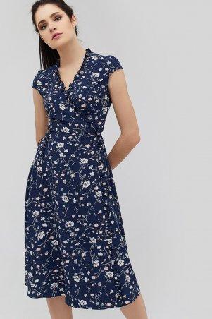 "Cardo. Платье ""NIM"" темно-синий в цветы . Артикул: CRD1804-1313"