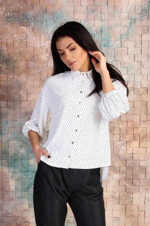 Eva Style. Свободная блуза с накладными карманами и припущенным рукавом. Артикул: 1310