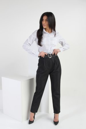 Eva Style. Модные брюки с высокой посадкой «Классик» - 1305. Артикул: