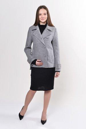Filatova Tatiana. Пальто женское Татьяна Филатова модель 221 патик серый. Артикул: 221