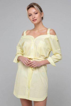 Zefir. Платье-сарафан с открытыми плечами. Артикул: BLANSH желтое