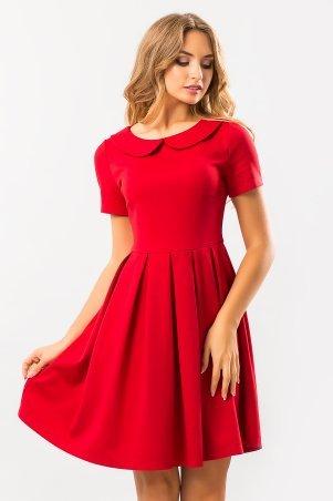Garda. Красное Платье С Круглым Воротником. Артикул: 300245