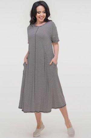 V&V. Платье 2779-1.17 черно-белая полоска. Артикул: 2779-1.17