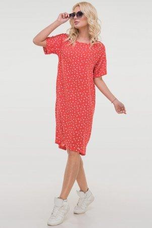 V&V. Платье 2794-3.84 красное с якоречками. Артикул: 2794-3.84