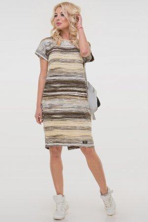 V&V. Платье 2794-2.17 желтое с коричневым. Артикул: 2794-2.17