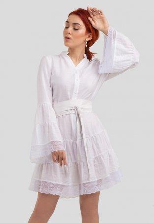 Bessa. Платье с кружевом и поясом. Артикул: 1808