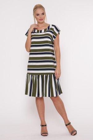 Vlavi. Платье Яна полоса оливка. Артикул: 1154