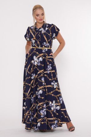 Vlavi. Платье  Алена синее цепи. Артикул: 1143