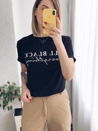 Immagine. Женская футболка черная с надписью. Артикул: 3096