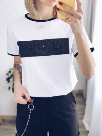 Immagine. Стильная белая футболка женская. Артикул: 3093