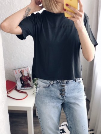 Immagine. Черная женская футболка. Артикул: 6038