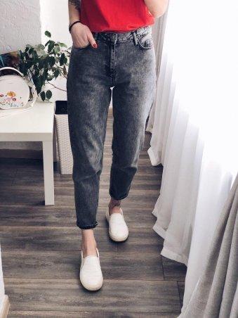 Immagine. Мраморные джинсы МОМ женские. Артикул: 1037-1169