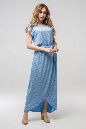 First Land Fashion. Платье. Артикул: Asti голубой горох