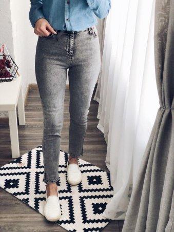 Immagine. Женские укороченные джинсы SLIM серые. Артикул: 1031-1179