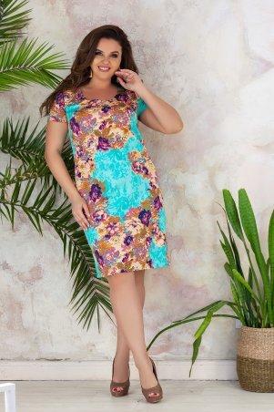 Bisou. Платье в летний принт. Артикул: 7247
