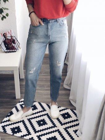 Immagine. Голубые женские джинсы МОМ. Артикул: 1215-1202