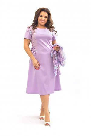 Ninele Style. Платье. Артикул: 355-3 сиреневый