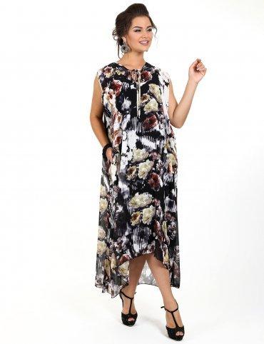 Enigma. Платье-двойка в виде сарафана и накидки с капюшоном. Артикул: G2241