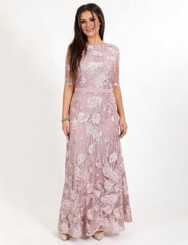 Enigma. Платье вечернее гипюровое с юбкой годе. Артикул: G2296AB