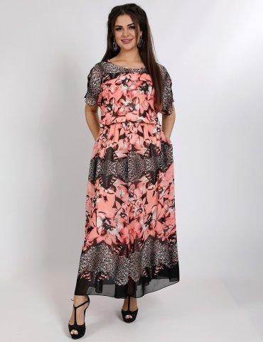Enigma. Платье вечернее из принтованого шифона. Артикул: G2340A