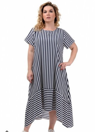 Safika. Платье Разлетайка софт полоса. Артикул: 018_248400