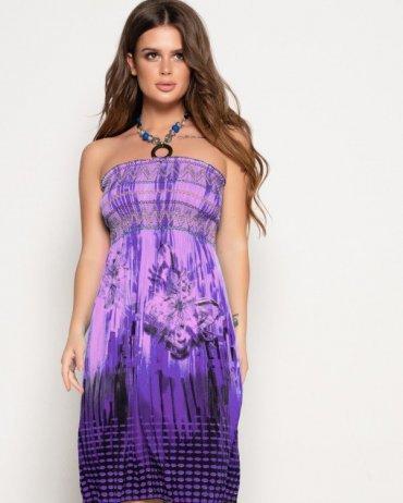 ISSA PLUS. Платья. Артикул: WN9-30_фиолетовый