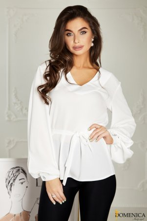 Domenica. Свободная белая блуза -. Артикул: Р 2518 L
