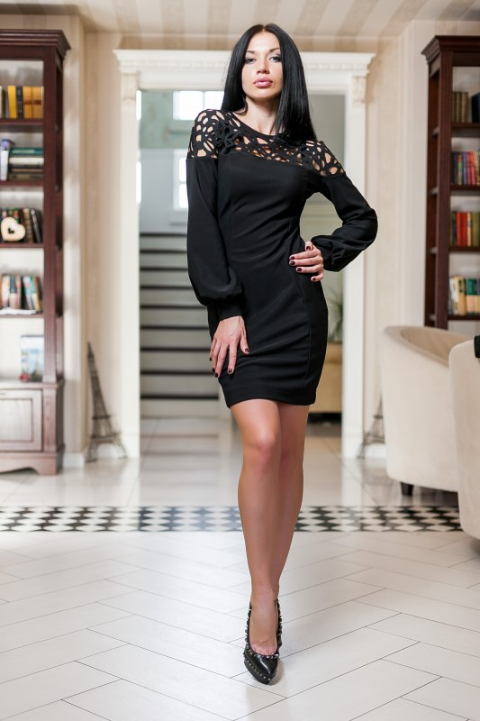 7420ca91430a Платье Michelle цветов синий, бежевый, черный, бирюзовый, белый ...